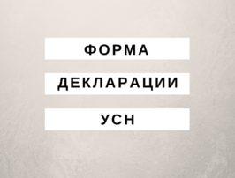 Декларация УСН