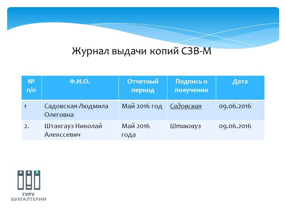 получение копий отчетов СЗВ-М