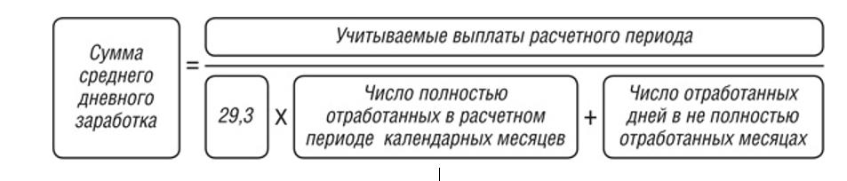 формула определения среднего зароботка-2
