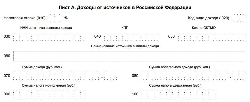 Источник выплат в декларации 3 ндфл это документы нужны регистрации ип