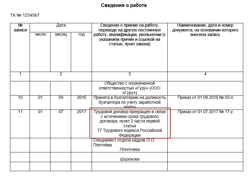Работа по трудовому договору с трудовой книжкой образец характеристика на грузчика с места работы