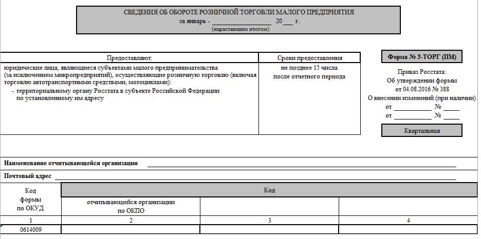 Приложение 3 к инструкции форма 3