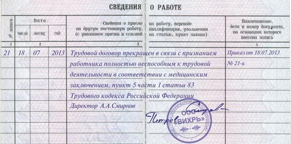 Увольнение по состоянию здоровья по ТК РФ: выплаты и компенсации