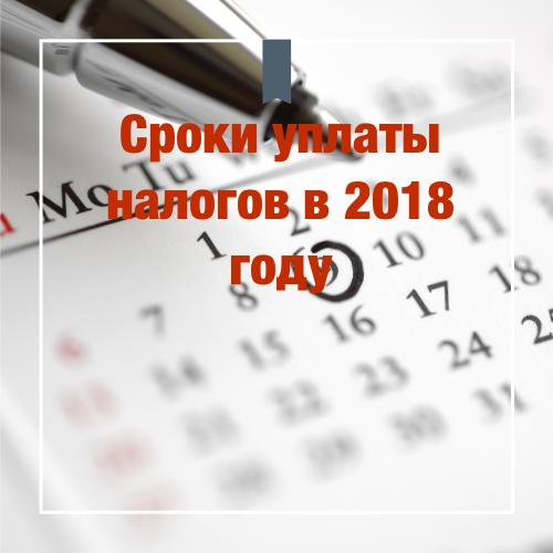 Таблица сроков уплаты налогов в 2019 году