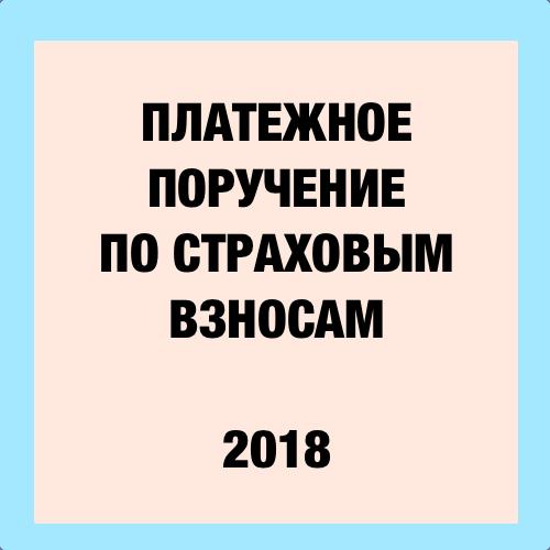 Образец платежного поручение пени 2018 взносы