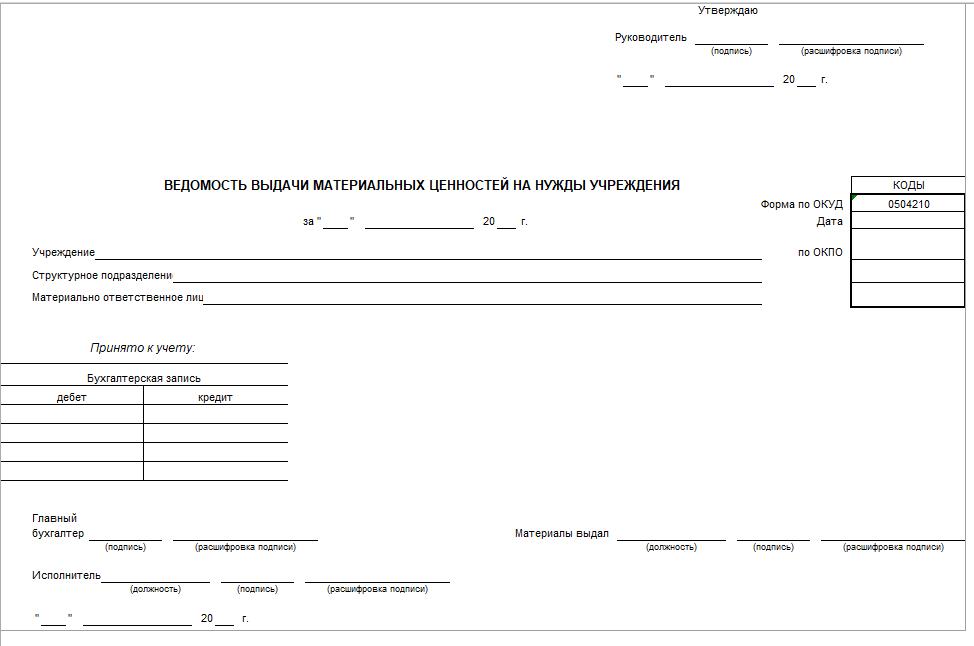 Бланк акта взаиморасчетов из 1 с