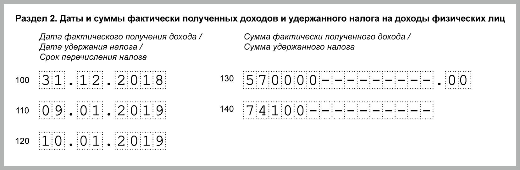 Зарплата за декабрь выплачена в январе 2019 года: отражение в 6-НДФЛ